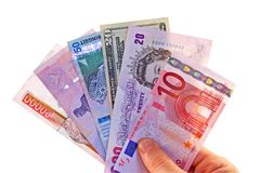 Foreign Currencies Stock Photos