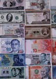 Foreign currencies notes Royalty Free Stock Photos