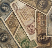 Foreign Currency. A collection of foreign notes Royalty Free Stock Photography