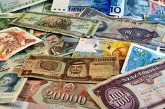 Foreign currency. World wide money royalty free stock image