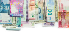 Foreign currency banknotes Royalty Free Stock Photography