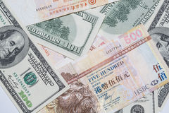 Foreign currency. With difference currency Stock Photography