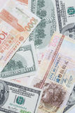Foreign currency. With difference currency Stock Photos