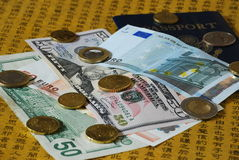 Foreign Currency Exchange Royalty Free Stock Image