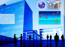 Foreign currency exchange market scene Royalty Free Stock Photos