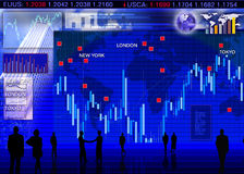 Foreign currency exchange market scene. Abstract business concept: foreign currency exchange market scene Stock Photography