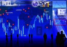 Foreign currency exchange market scene Stock Images