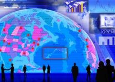 Foreign currency exchange market scene. Abstract business concept: foreign currency exchange market scene vector illustration