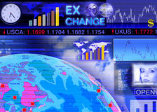 Foreign currency exchange market scene Royalty Free Stock Image