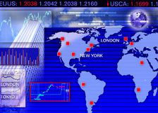 Foreign currency exchange market scene Stock Photo