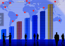 Foreign currency exchange market scene Stock Photography