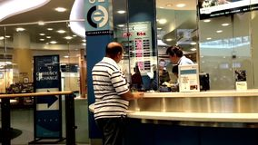 Foreign currency exchange place stock video footage