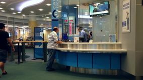 Foreign currency exchange place stock video