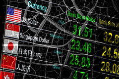 Foreign currency exchange rate, economy crisis. stock photos
