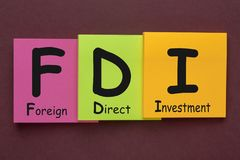 Foreign Direct Investment FDI royalty free stock photography