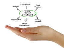 Foreign Direct Investment. Presenting diagram of Foreign Direct Investment royalty free stock photography