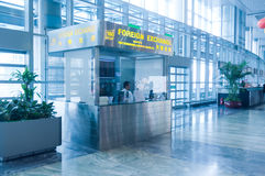 Foreign exchange at airport stock photos