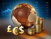 Foreign exchange market stock photography