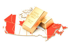 Foreign-exchange reserves of Canada concept, 3D rendering. Isolated on white background Stock Photography