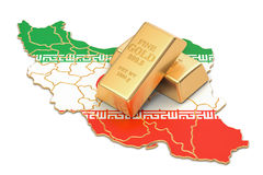 Foreign-exchange reserves of Iran concept, 3D rendering Royalty Free Stock Photo