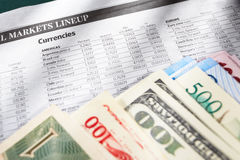 Foreign exchange sheet Royalty Free Stock Image