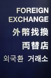 Foreign exchange sign Royalty Free Stock Photos