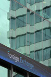 Foreign exchange sign on an outdoor board Stock Photography