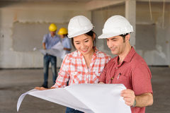 foreign Investor talking salesperson about the construction proj Royalty Free Stock Images