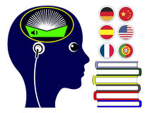Foreign Language Audio Books Royalty Free Stock Photography