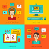 Foreign language education online. Royalty Free Stock Images