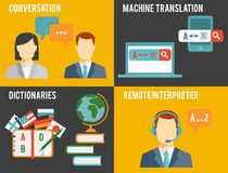 Foreign Language Translation Concept Graphics Royalty Free Stock Image