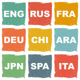 Foreign languages set illustration Stock Image