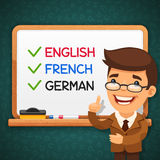 Foreign Languages Teacher in front of the Royalty Free Stock Images