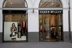 FOREIGN LUXUS SHOPS ON STROEGET. Copenhagen/Denmark/ _ 04 February  2016_Foreign luxus store Karen Mullen  on stroeget Royalty Free Stock Photography
