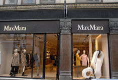 FOREIGN LUXUS SHOPS ON STROEGET. Copenhagen/Denmark/ _ 04 February  2016_Foreign luxus store MaxMarai on stroeget Royalty Free Stock Photography