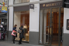 FOREIGN LUXUS SHOPS ON STROEGET. Copenhagen/Denmark/ _ 04 February  2016_Foreign luxus store Mulberry on stroeget Stock Photography