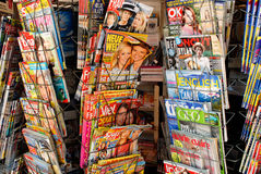 Foreign magazines Royalty Free Stock Photo