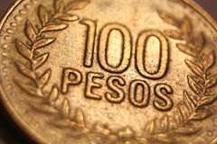 Foreign Money Coin - 100 Pesos Stock Images