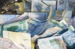 Foreign money collage background Royalty Free Stock Image