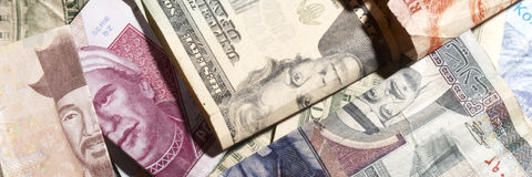 Foreign Money Stock Image