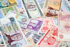 Foreign notes Stock Photos