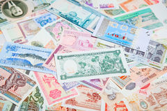 Foreign notes Stock Photography