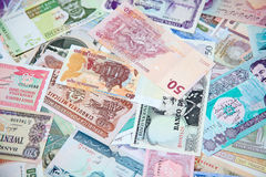 Foreign notes Stock Images