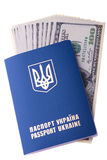 Foreign passport of citizen of Ukraine Royalty Free Stock Images