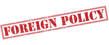 Foreign policy red stamp Royalty Free Stock Photography
