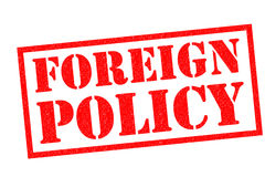 FOREIGN POLICY Rubber Stamp Stock Images
