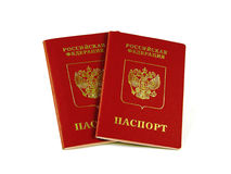 Foreign Russian passports Stock Photos