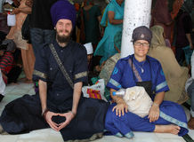 Foreign sikh divotees Royalty Free Stock Photography