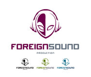 Foreign Sound Logo Royalty Free Stock Image
