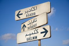 Foreign Street Signs Royalty Free Stock Image